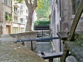 Rue des teinturiers à Avignon