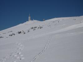 Sommet du Mont Ventoux en raquettes