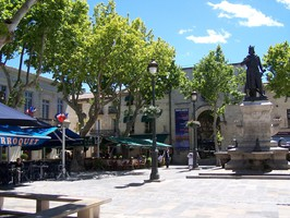 Place Saint-Louis à Aigues-Mortes
