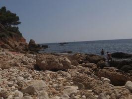 Vue du la crique de la plage du Rouet