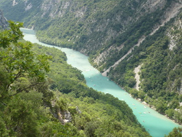 Gorges du Verdon vues d'un point haut